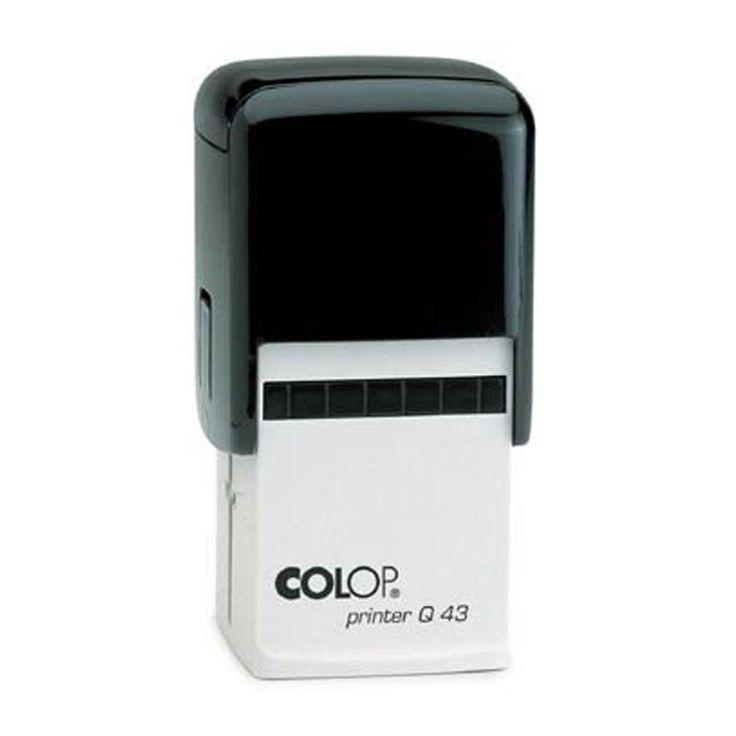Vierkante stempel Colop Printer Q43 43x43mm met je eigen gegevens. Bestel ze bij Stempelfabriek.nl