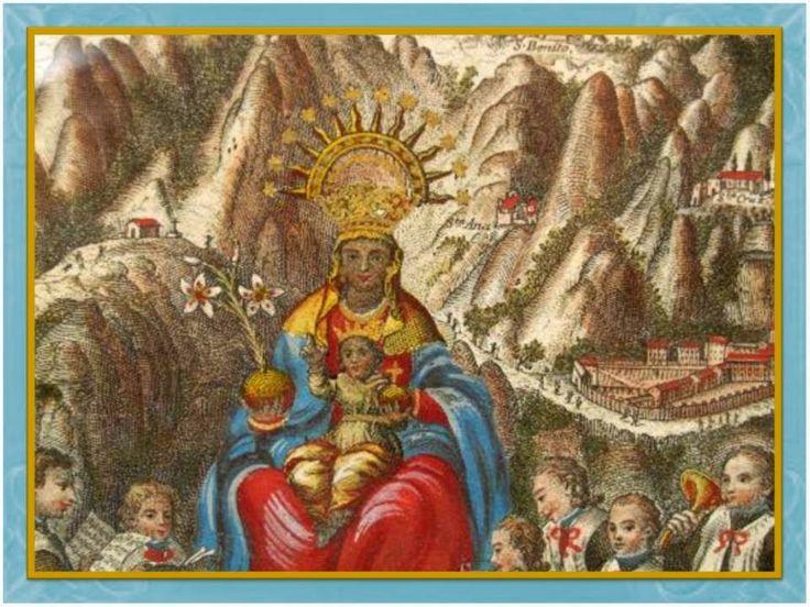 Oh Nuestra Señorade Montserrat,   llena de gracia Divina, llena de virtudes,   recibe las suplicas de este pecador arrepentido   que t...
