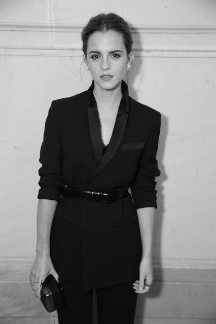 Vogue Paris Foundation Gala - Emma Watson- black on black on black