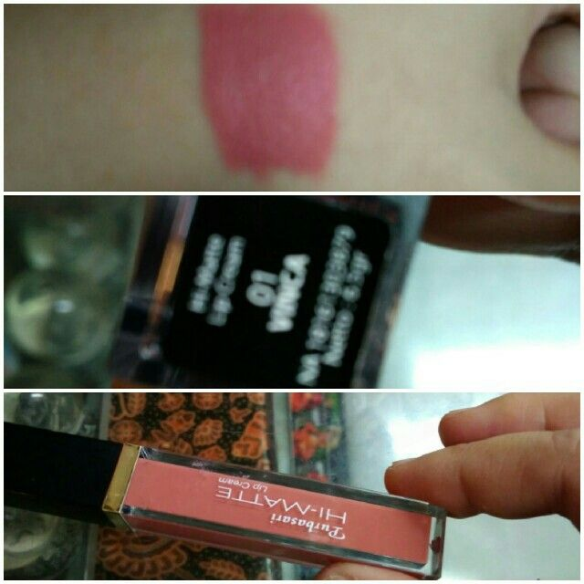 The color is too pale for me. But its good combo for making gradient lips. Usually in the middle I use pixy lip cream party red, then this color, last one just apply lipgloss. Voila, bravo combo.