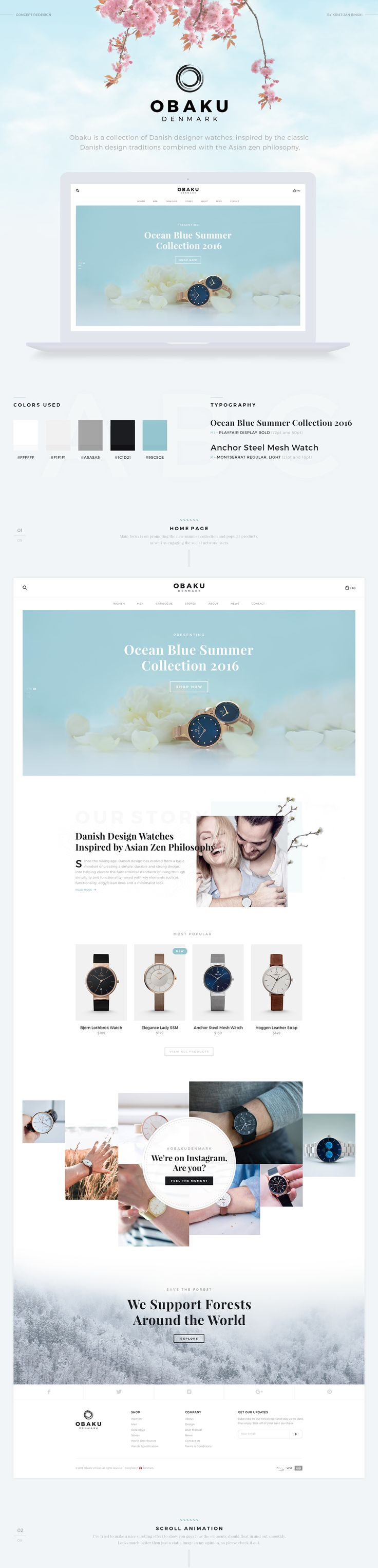 Since I bought a gift for my fiance, an awesome Obaku watch, we are both amazed by the simplicity and elegance of the product itself. However, after we did some research online, we figured their website and logo could be improved. So I tried to apply the …