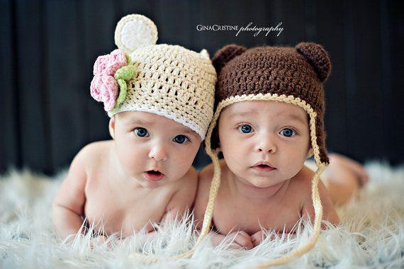 Crochet Flower Bear Hat Pattern