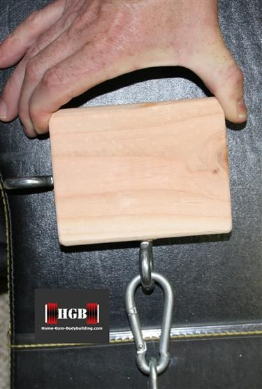 Homemade pinch grip