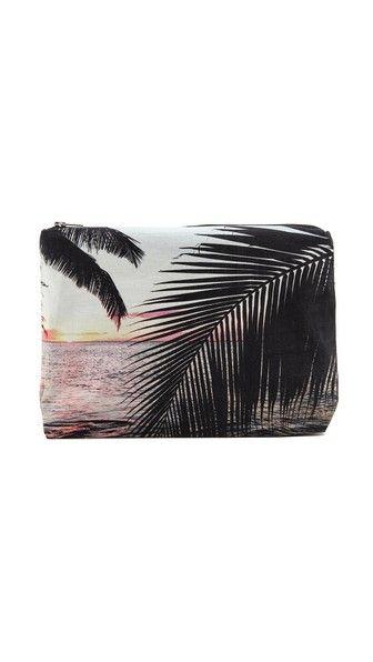 Samudra Molokai Palm Pouch - cosmetics case