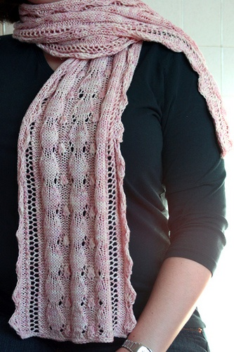 goes to local yarn shops and Home Depot Mother of Pearl a scarf Mother Of Knit Knit Pearl Scarf Pattern