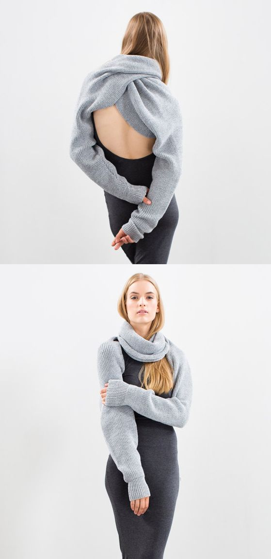 Neverending sleeves is the ultimately versatile piece. It converts to what you want it to be: from neckwarmer, scarf, shrug to cropped top or a sweater. Handmade Handknitted on Etsy. Gifts for her ideas. Mothers Day, Birthday, Thanksgiving Christmas presents. Gift inspiration. Winter fashion. Handmade. #chunkyknits #knitwear #winterfashion #babyitscoldoutside #winter #scarfs #giftsforher #giftideas #gifts #knitwear #affiliatelink #etsyfinds