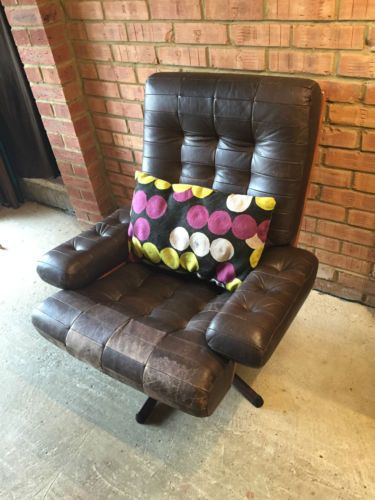 Vintage-Mid-20th-C-Gote-Mobler-Leather-Armchair-Swivel-Chair-circa-1960s