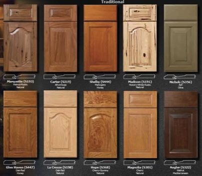 Cabinet refacing wood doors kitchen pinterest stains for Kitchen cabinet wood types