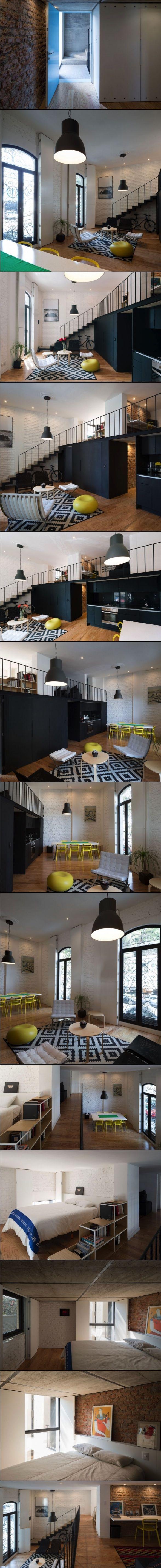 25 beste idee n over kleine trap op pinterest zoldertrappen wenteltrap en wenteltrappen - Ruimtebesparende mezzanine ...