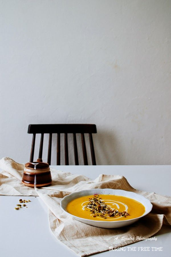 Zupa krem dyniowa z imbirem i mlekiem kokosowym