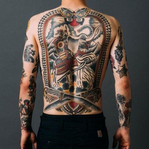Cool Full Back Tattoos For Men