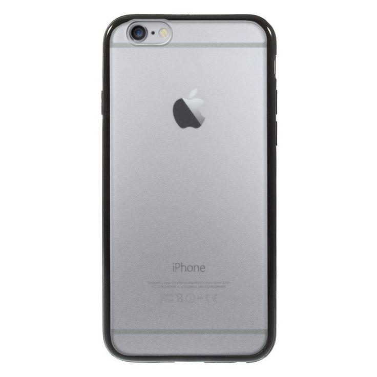 Průhledný kryt pro iPhone 6 s černým rámečkem #AllCases.cz #kryt #case #iphone #iphone6