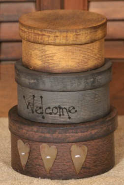 Welcome Tin Hearts~ Nesting Boxes