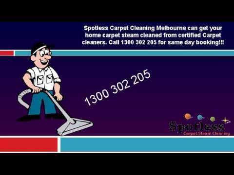 Spotless Carpet Cleaning Melbourne can get your home carpet steam cleaned from certified Carpet cleaners. Call 1300 302 205 for same day booking!!!