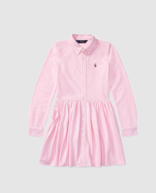 Vestido de niña Polo Ralph Lauren en rosa