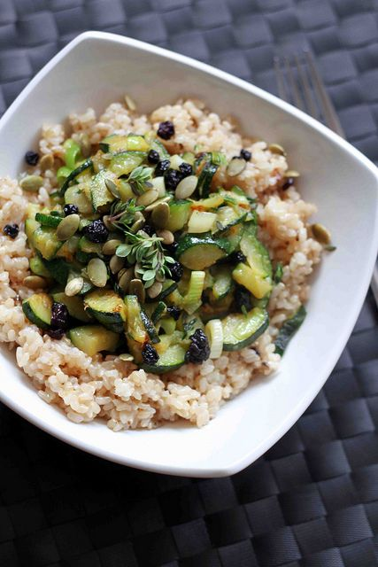 Brown Rice, Courgettes and Lemon Thyme by Salad Pride, via Flickr