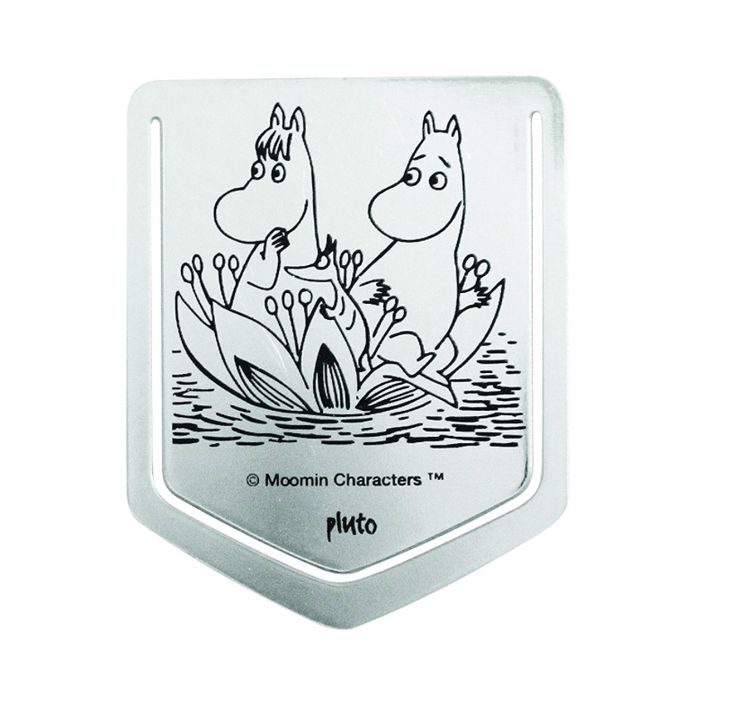 Moomin metal book clip MOOMINTROLL AND SNORKMAIDEN