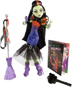 Monster High Dolls: Casta Fierce Doll The Daughter of Circe brims with drama in a sparkling flared gown. Casta Fierce doll comes with a microphone she can hold in her hand or clip into her broom.  Casta is older than all the boys and girls at MH. http://awsomegadgetsandtoysforgirlsandboys.com/monster-high-dolls/  Monster High Dolls: Casta Fierce Doll