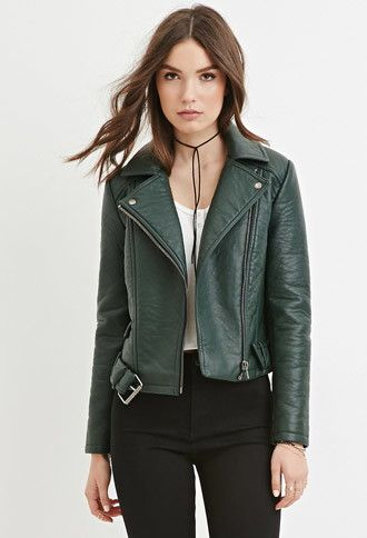 Best 25  Green leather jackets ideas on Pinterest | Leather look ...