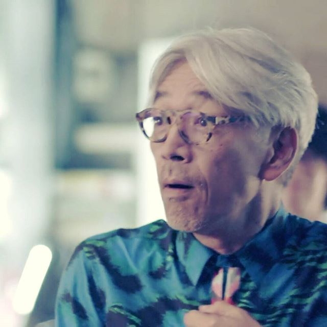 HM&KENZO campaign. You are really cute. #ryuichisakamoto #坂本龍一