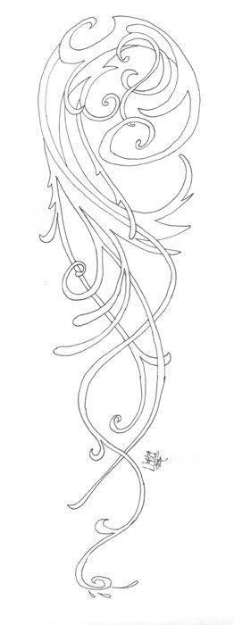 Use this as a stencil to put on mirror to look like it's etched. (From Arwen's Chase Dress Sleeve)