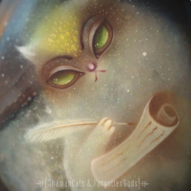 20 гипнотических котов-амулетов от рязанской художницы  Юралги Норт