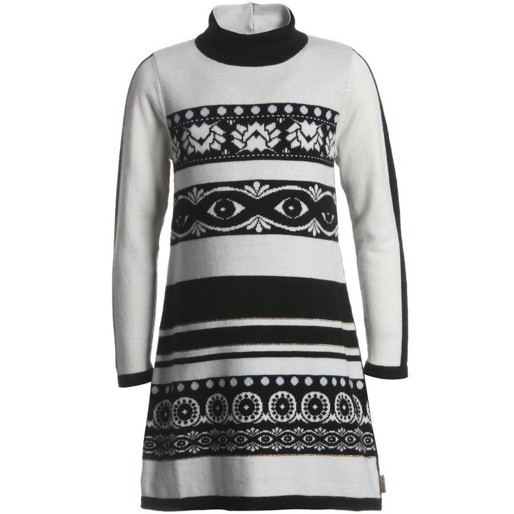 Kenzo Knitted Monochrome Dress at Childrensalon.com