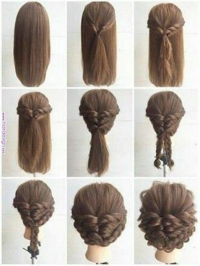 Easy And Simple Step By Step Hairstyles For Medium Hairs Asma