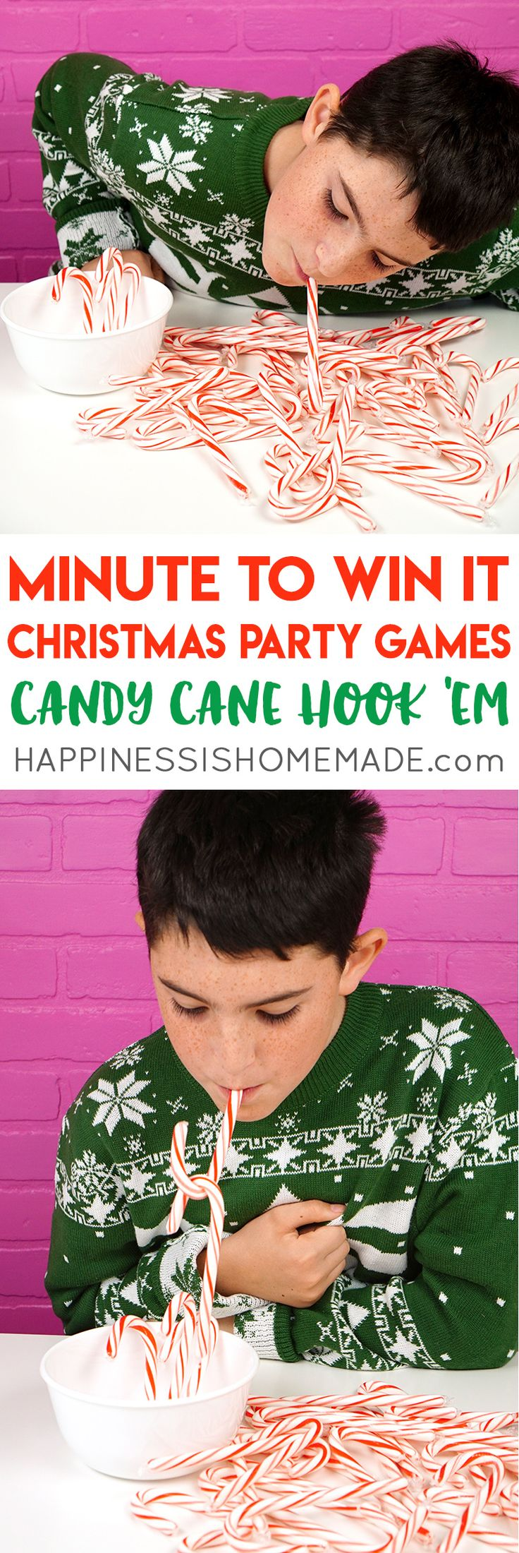 Host the best Christmas party ever with these fun Christmas Minute to Win It games for kids and adults. Fun Christmas party games that are perfect for all ages!