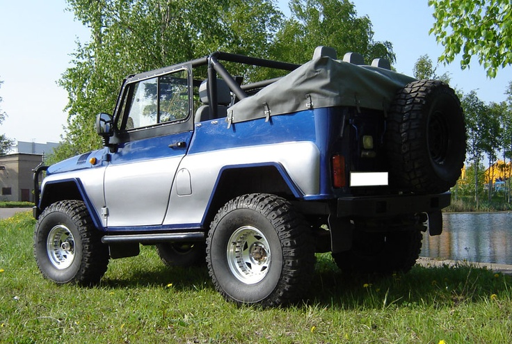 UAZ Cabriolet for comfort offroad travels. That UAZ was made from standard UAZ 31519.