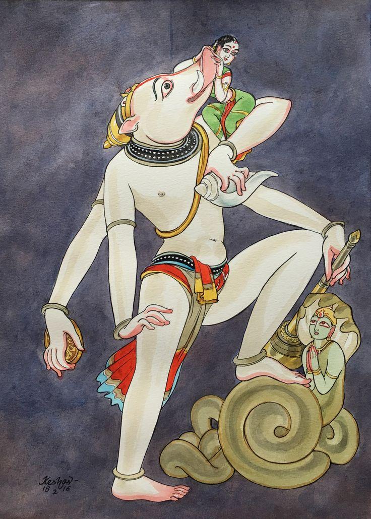 Varaha. #watercolour #krishnafortoday