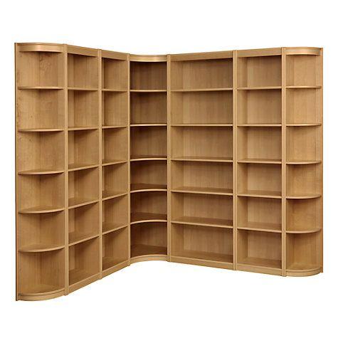Buy John Lewis Agatha L-Shaped Bookcase Combination, Oak Online at johnlewis.com