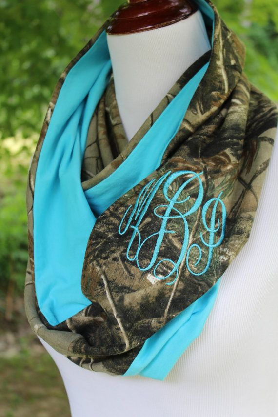 Personalized Camo Infinity Scarf Realtree by HandfulsofPurpose4U