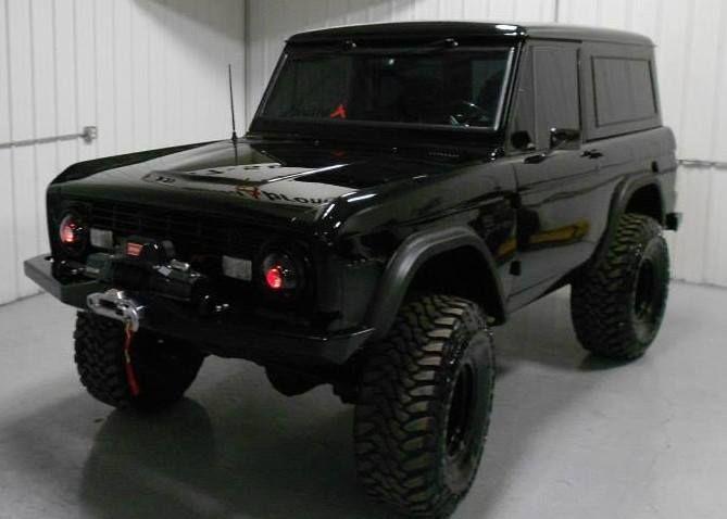 Black Early Bronco