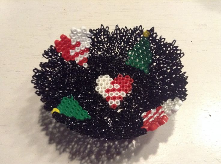 Sød hjemmelavet Perleskål med Julemotiver