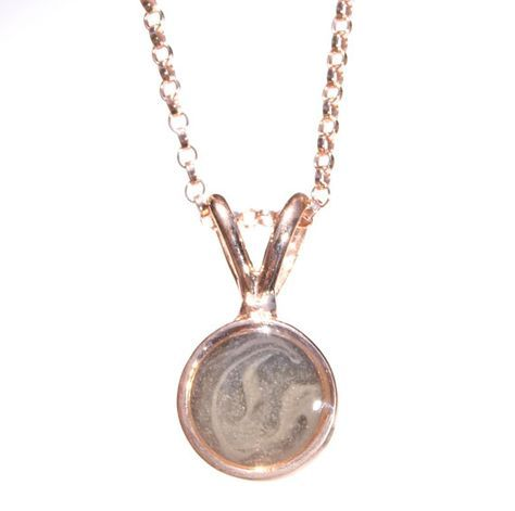 Cremation Pendant  Small 14K Rose Gold Cremation by CloseByMe