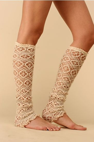 Free People Clothing Boutique > Crochet Flower Legwarmer