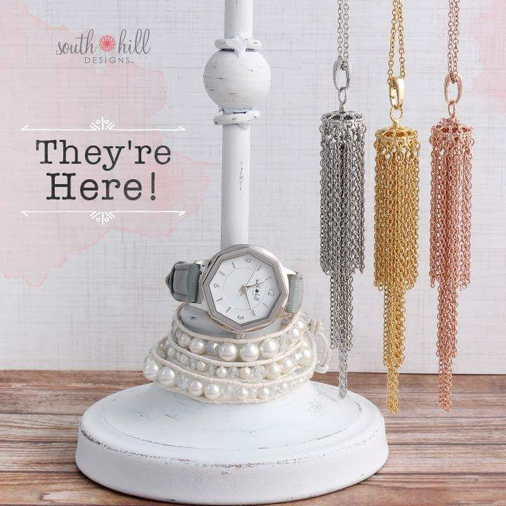 The SHD Watch is available now choose 9 different strap colors!!!! Plus the limited edition white wrap bracelet and new chandelier tassels in silver, gold and rose gold. Get yours today.  http://TammyTamayo.SouthHillDesigns.com