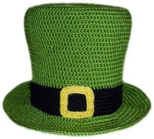 Leprechaun Hat free crochet pattern - Free Crochet St. Patrick's Day Hat Patterns - The Lavender Chair