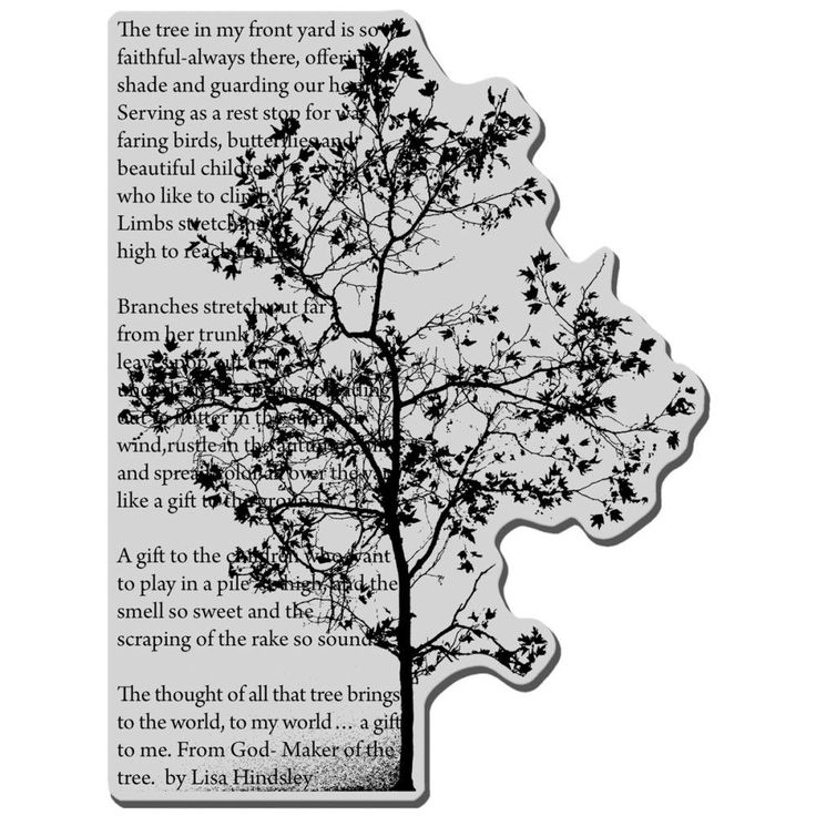 Stampendous Cling Stamp Tree Poem By Pnwcrafts On Etsy