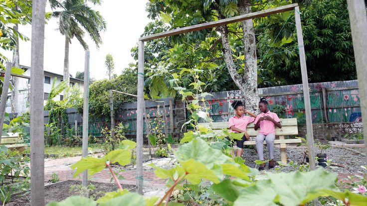 SURINAME - Als de leerlingen van het Maria Internaat uit de Surinaamse hoofdstad Paramaribo een dag hard hebben gewerkt in hun moestuin buiten de stad, is het goed rusten.