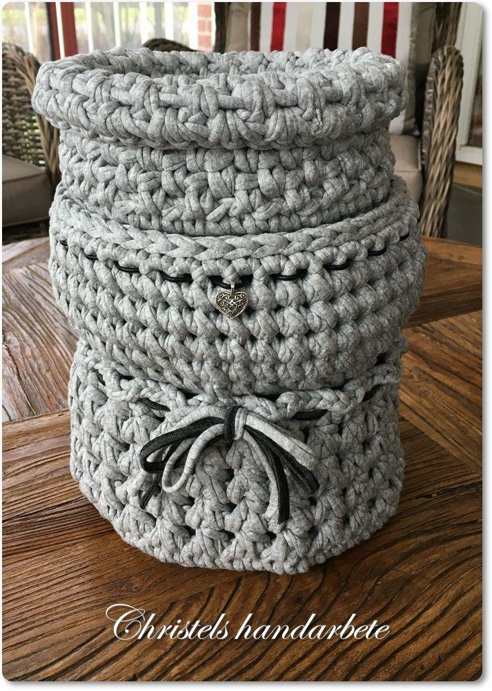 Virkade korgar, Crochet basket