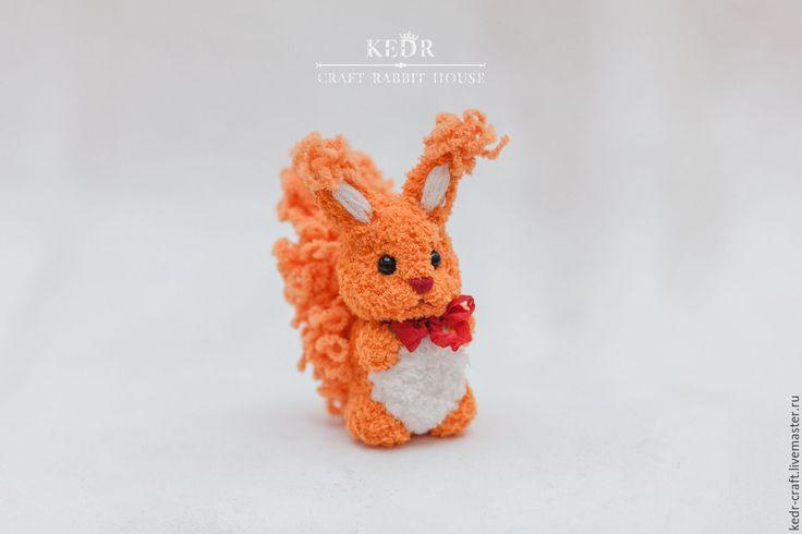 """Купить белка """"Энора"""" - животные, вязание, вязаные игрушки, детские подарки, кукла ручной работы"""