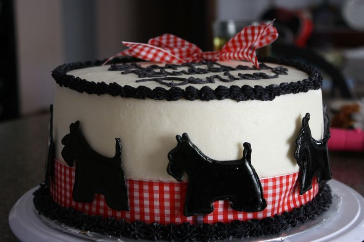 Preppy Puppy Birthday Cake