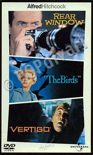 Alfred Hitchcock Collection • Jännityksen ystäville kolme Hitchin klassikkoa parhaasta päästä. • Takaikkuna (1954) • Vertigo – punainen kyynel (1958) • Linnut (1963)
