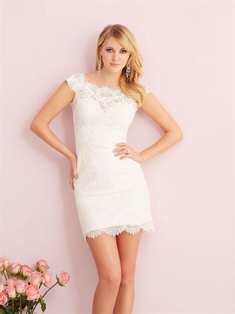 543 best allure wedding dresses images on pinterest for Allure short wedding dress
