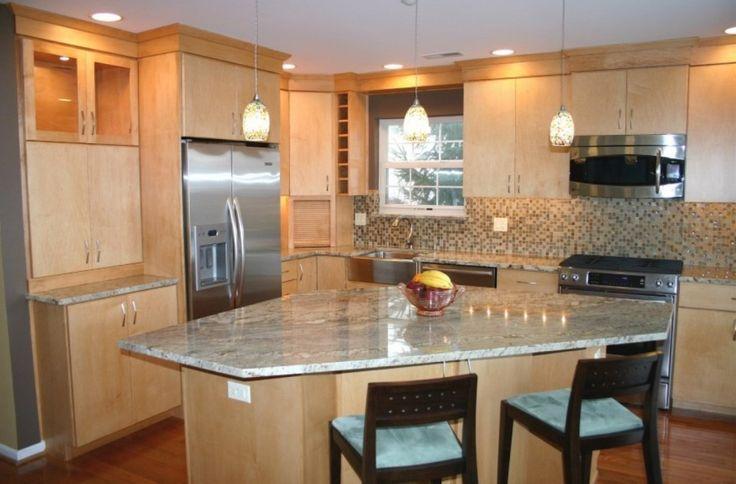Diagonal Island Simple Kitchen Design Kitchen Designs Layout Tuscan Kitchen