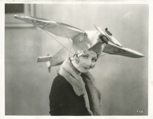 Alice White wearing a Lucky Lindy hat, late 1920s