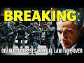 """BREAKING: OBAMA ADDRESSES MARTIAL LAW TAKE OVER Published on Oct 2, 2015 Obama addresses martial law takeover: """"The politics has to change. And the people who are troubled by this have to be as intense, and as organized, and as adamant about this issue as folks on the other side who are absolutists and think that any gun safety measures are somehow an assault on freedom or Communistic. Or a plot by me to take over and stay in power forever or something...."""""""