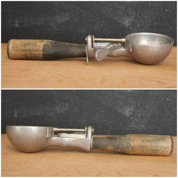 Vintage Ice Cream Scoop with Wood Handle by GatherAndDisperse, $11.00